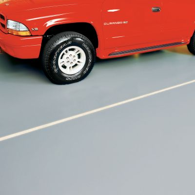 Add a layer of protection to your garage floor and cut down on the dirt tracked into your house at the same time with the G-Floor ribbed floor cover. The ribs in the mat control debris and channel liquids away. The sections can be overlapped or butted together for a seamless look and complete garage protection. Variable sizes let you decide just how much of your garage you want covered. This pad is 55-mil thick and can be permanently placed by using the optional adhesive tape. Just tape the sides and seams, and the pad stays in place. You can also leave the pad unsecured for easy removal. Made in USA.Dimensions: 7-1/2' x 17'.Colors: Red, Green, Blue, Black, Gray, Tan. Type: Garage Floor Protector. Red. - $179.99