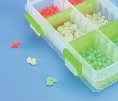 Fishing Effective assortment includes 600 Glow Beads: 100 each in two different sizes and three colors. Six-compartment pop-top box. Sizes: Small/Medium 4mm/5mm, Medium/Large 5mm/6mm. Size: SMALL. - $14.99