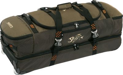 Fishing Simplify your next fishing trip with angler-specific travel gear. Take the cargo roller bag on longer trips its equipped with a large, split-bottom compartment along with two wet/dry side pockets. Roller wheels and a top handle for easy transportation. Imported. Dimensions: 36L x 13W x 15H. Color: Moss. Size: CARGO ROLLER BAG MOS. Color: Moss. - $147.00