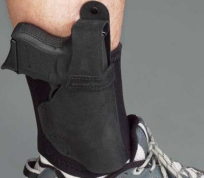Following up on two decades of success with its Ankle Glove ankle holster, Galco adds the Ankle Lite to its family of concealed-carry holsters. A wide neoprene ankle band teams with secure Velcro closure and a center-cut steerhide holster to provide comfortable and secure carry for your compact handgun. Additional comfort is provided by sheepskin padding between the holster and your ankle. A reinforced thumb break retention strap delivers added security. Fits ankles up to 13 circumference. Models available for compact revolvers and semiautomatics. Made in USA. Type: Concealed Carry. - $69.99