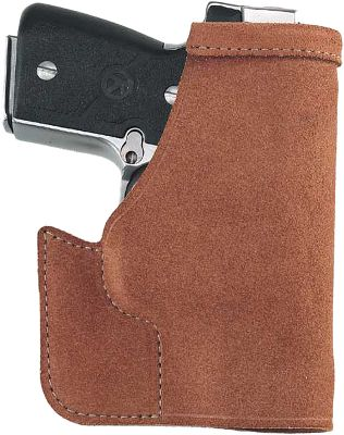 Designed for carrying a small handgun in the front pocket of your pants or coat, the Pocket Protector holster keeps your gun positioned so you can always quickly put your hand on the grip when you need to draw. This holster also hides the outline of your firearm so you can carry it discreetly with confidence. Reinforcement of the trigger guard and holster mouth aid drawing and reholstering. A hooked section under the trigger guard is engineered to catch your pocket on the draw so the holster stays in the pocket or falls clear. This ambidextrous holster is constructed of premium Center Cut Steerhide. Color: Clear. Type: Concealed Carry. - $24.99