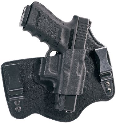 Entertainment Galco Gunleathers inside-the-waistband holster is getting rave reviews by consumers. It combines the comforts of a saddle-leather backing plate with a Napa leather front for long-lasting performance. A rigid Kydex holster pocket allows for a fast draw and easy holstering. The removable belt clips adjust to your preferred carry height and angle. Reinforced, double-stitched seams. Covered trigger for safety. Compatible with belts up to 1-3/4W. Right-handed shooters. Made in USA. Color: Black. Color: Black. Type: Concealed Carry. - $64.99