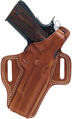 A high-ride holster thats the perfect blend of comfort, concealment and accessibility. The premium tan saddle leather is hand-molded for a flawless fit with the specified handgun models. Outfitted with a reinforced thumb break and a covered trigger guard. Fits belts up to 1-3/4. Seams are double-stitched for durability. Color: Tan Color: Tan. Type: Concealed Carry. - $89.99