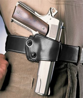 For more than 15 years, the renowned Slide Holsters simple design has made carrying a handgun comfortable, discreet and practical. It features independent tension screw adjustments that help you custom fit the holster to your firearm and secure it during day-to-day activities. With a near-vertical carry angle, the Yaqui Slide Holster is very fast to draw from. Its open-muzzle design is perfect for those who own multiple barrel lengths of the same gun model. Crafted of premium saddle leather. Fits belts up to 1-3/4 wide. Made in USA. Color: Brown. Type: Concealed Carry. - $69.99