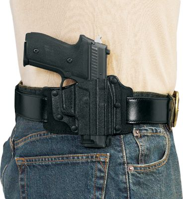 Engineered to hold your handgun comfortably close to your side, the contours of this holster follow the anatomical curve of your hip. The open-top design has a neutral cant and allows for rapid, unimpeded access. Crafted of rugged premium-steerhide and Kydex. Fore-and-aft belt slots fit belts up to 1-3/4 wide. Available: SW J-Frame/Taurus 85 5 Model 1911 Glock 17, 19, 22, 23, 26 Springfield XD/XDM SW MP Compact Ruger LC9 Type: Concealed Carry. - $39.99