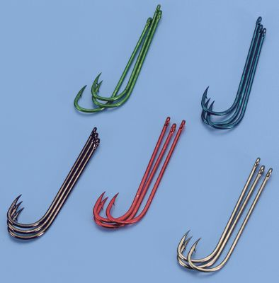 Fishing Sometimes just a bit of color is whats needed to get stubborn crappies and sunfish to take the bait. This assortment will let you experiment until the winning combination gets those fish biting. Use them with live bait or plastics. You get three hooks, in each of five colors, including Green, Blue, Red, Black and Bronze. 15 razor-sharp Gamakatsu hooks in all. Hook sizes: 4, 6, 8. Size: 8. Color: Bronze. Gender: Male. Age Group: Adult. - $3.49