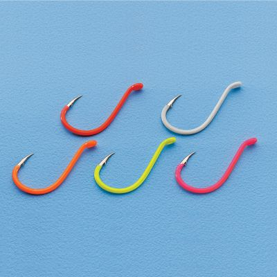 Fishing Fluorescent-colored octopus-style hooks are perfect for steelhead, trout and walleye rigs. Each assortment has 20 hooks, four of each color. Colors: Glow, Fluorescent Pink, Fluorescent Orange, Chartreuse and Fluorescent Red. Sizes: 2, 4, 6 or 8. Size: 4. Color: Chartreuse. Gender: Male. Age Group: Adult. Type: Hook Kits. - $9.99