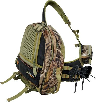 Hunting Based off the popular Spot-N-Stalk pack, the XBOLT is optimized for crossbow accessories. Brushed tricot shell is durable and quiet. Comes with a TruGlo four-arrow quiver and two attachment straps. Imported.Camo pattern: Realtree APG. Type: Hunting Packs. Camo Pattern: Realtree APG . - $59.88