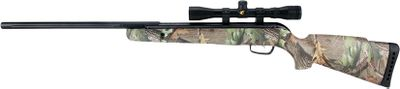 Entertainment Equipped with a 4x32 scope, this beauty has a durable, all-weather, synthetic ambidextrous Realtree stock with twin cheek pads. IGT shoots .177-caliber pellets up to 1,250 fps with single cocking system. Barrel is constructed using a fluted, polymer jacket over rifled steel. Gamo standard reticle scope. Comes with 50 rounds of PBAPlatinum ammo.Cocking effort: 32 lbs.Barrel length: 18.Overall length:43.Weight: 6.1 lbs. Color: Camo. Type: Air Rifle. - $219.99