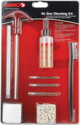 This kit has everything you need to keep your air gun looking great and working well by keeping it clean inside and out. You receive a cleaning rod and barrel brushes for .177-, .22- and .25-caliber barrels. The kit also comes with cotton pellets, cotton patches, a cleaning brush and cleaning oil. - $13.88