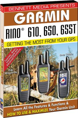 Hunting Step-by-step instructional DVD walks you through the key features and functions of your Garmin Rino 610, 650 or 655T unit from basics to advanced operation. Use the interactive menus for quick chapter review and to go to a specified location in the video. - $15.99
