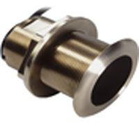 The bronze through-hull transducer mounts to your compatible device to receive depth and temperature data. Operates at frequency of 200 and 50kHz. 20 beam width. Color: Bronze. - $249.99