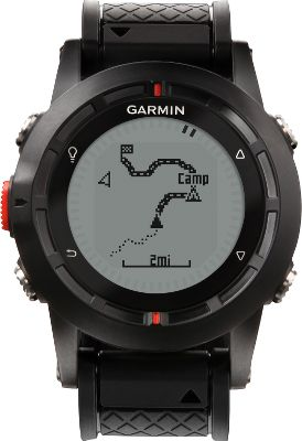 Fitness Wherever your adventures take you, the Garmin fenix GPS Watch will get you home. With the capabilities to mark 1,000 waypoints and store 10,000 trackpoints, navigating between your favorite spots is a cinch. Easy-to-use altimeter, barometer, three-axis compass and temperature sensor with automatic calibration. Exclusive TracBack feature reverses the track log for navigating back to your starting point. Share data wirelessly with compatible Garmin units and smartphones. Factory-installed worldwide basemap. Customizable user profiles available for activities such as cycling, running and hiking. Data field options include heart rate, calories, laps, stopwatch, distance and pace. Includes alarms, tones and vibration alerts. Mineral-glass lens resists scratches. Robust polyurethane wristband. Large, backlit LED display. Rechargeable lithium-ion battery lasts up to six weeks in watch mode, and 16-50 hours in GPS mode. Comes with USB cable and AC adapter with plug. Water-resistant to 50 meters. Case diameter: 48mm. Type: GPS Watches. - $269.88