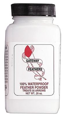 Hunting Feather Powder is waterproof to keep arrows ready to fly no matter what the weather. 1/4-oz., enough to treat 50 arrows. Color: White. Type: Feather Powders. - $9.99
