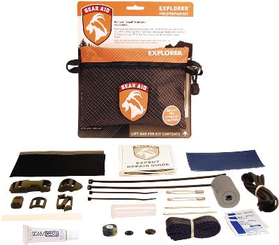Camp and Hike It features 22 products to fix, repair and revive equipment and gear while at home or in the field. It includes a buckle kit, a sewing kit, and even adhesive and fabric patches. Also includes detailed instructions and a gear-repair manual. Made in USA. Dimensions: 6-3/4 x 5 x 1-1/4. Weight: 7 oz. Kit includes: Seam grip 1/4-oz. adhesive 2 x 50 duct tape 1 flat black polypro web, 40 Two 4 cable ties Two 8 cable ties Three PDI alcohol towelettes Glue stick Side-squeeze buckle set Siamese Slik Clip Quick-attach tension lock Sliplock buckle Posigrip cord lock Nylon 420-denier patch, 4 x 6 No-See-Um patch, 4 x 6 Dark blue Tenacious adhesive patch, 3 x 10 Clear Tenacious adhesive patch, 3 x 10 Two safety pins No. 18 sewing needle, chenille No. 16 sewing needle, yarn No. 69 bobbin, olive green No. 20 black button No. 24 black button Color: Black. Gender: Male. Age Group: Adult. - $11.88