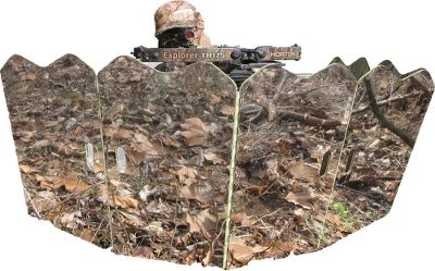 Hunting Concealment that perfectly matches your surroundings. No matter where you set up GhostBlinds Six-Panel Runner Blind the mirrors will mimic the leaves and trees for the ultimate concealment. At only 8 lbs. and 26H x 16.5W when folded, its easily moved between stands. Integrated carry strap makes transport simple. Weather-resistant polyproplyene panels withstand seasons of use. Tent stakes secure the blind. Includes: Blind, 2 carry strap, four tent stakes, 1 bungee cord and instructions. Made in USA. Set up: 26H x 98W. Wt: 8 lbs. - $149.99