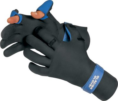 Fishing Our Cold-Weather Fishing Gloves boast fleece-lined neoprene for cold-weather fishing comfort.Glove tips flip back to expose your thumb and index finger. Pre-curved fingers for a comfortable fit. Textured outer surface for enhanced grip. Velcro -adjustable wrist strap.Imported. Sizes: S-2XL. Color: Black. - $39.99