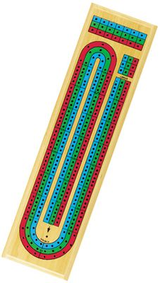 Enjoy hours of fun with this cribbage set. Traditional three-track design. Includes nine colored pegs.Dimensions: 15L x 4W x 1H. - $9.99