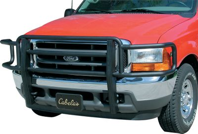 Protect the front of your truck without detracting from its rugged good looks with the Go Industries Black Powder-Coated Big Tex Grille Guard. Heavy-duty 2, black powder-coated 14-ga. steel one-piece frame wont bend, flex or vibrate. Custom-contoured uprights are made of 11-ga. steel. Most models feature no-drill frame-mount installation. Color: Black. Type: Big Tex Grille Guards. - $449.99
