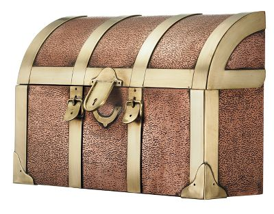 Camp and Hike Receive your mail with classic elegance in this copper mailbox. It mounts on the outside of your home and is crafted of copper with the look of a steamer trunk. One-year manufacturers warranty.Dimensions: 15L x 4.5W x 9H.Weight: 9 oz. - $199.99