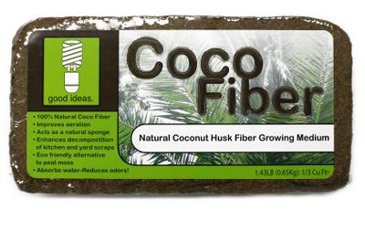 Camp and Hike When added to soil or compost, this 100% recycled coconut coir acts as a natural sponge, improving water retention and aeration, and enhancing decomposition. Use it as an eco friendly alternative to peat moss. Add to your compost batch to reduce odor. The fiber continues the composting process long after it has been placed in the ground. Size: 1.4 lbs. Color: Natural. - $29.99