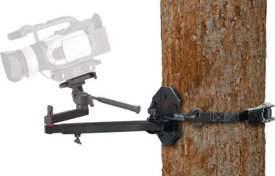 Hunting Secure your video camera to the tree to capture all the hunting action, scenery and wildlife that pass by. A strong ratchet strap teams with a four-point mounting plate to hold cameras weighing up to 4 lbs. The extension arm swings 180, while the forearm and camera head adjust 360. Mount and arm feature sturdy, lightweight, all-weather aluminum construction (camera not included). - $29.88