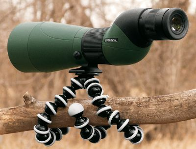 "Hunting Take your camera, binocular or spotting scope anywhere with the new Gorilla Pods. Using its flexible legs, you can easily attach it to almost anything such as a treestand, branch, unstable terrain and even rocks. The flexible joints bend and rotate 360 to form the perfect shape you need and give you a rock solid view. Ring and foot grips provide extra gripping power on all kinds of surfaces. Extremely lightweight and packable. Adaptable 1 4"" and 3 8"" screws included. Available in three sizes to meet different needs. - $29.88"