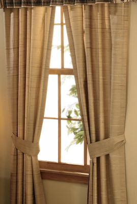 Entertainment Complement your bedroom decor with Rod Pocket Drapes that match the Alpine Trail Bedding Collection. Drapes come in two-panel sets and are made of 230-thread-count sateen. Machine washable. Imported. Size: 42 x 84 per panel. Gender: Male. Age Group: Adult. - $49.99