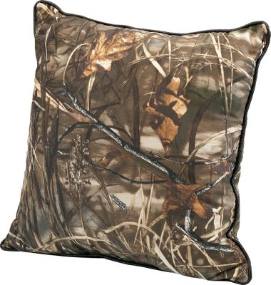 Entertainment Only Cabelas Grand River Lodge Series brings you world-class pillows in your favorite camo patterns with premium quality and unbeatable comfort. These pillows were developed to offer true value with top-grade fabrics, expert construction and the latest finishing processes for a five-star look and feel. They feature a brushed twill face and smooth backing. Machine washable. Imported. Size: 18 x 18. Camo patterns:Realtree MAX-4, Realtree AP,Mossy Oak Break-Up, Realtree XTRA. Color: Camouflage. Type: Decorative Pillows. - $19.99
