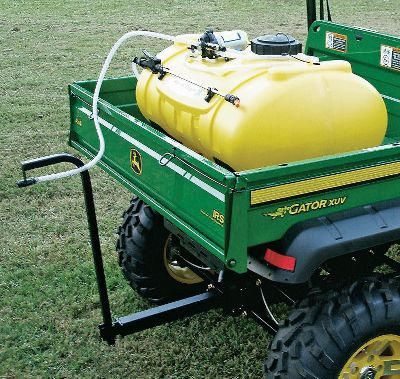 Cover large amounts of ground with this large 40-gallon sprayer. The unit is designed to mount in a UTV bed, with the nozzle attached to an arm that fits in the hitch receiver. Sprayers are available with 1.8- or 2.8-gpm ShurFlo pumps. Boomless spray tips deliver coverage up to 25-feet wide, and an adjustable, handheld wand can be attached for precise spraying. Tank is made of durable, corrosion-resistant polyethylene. Includes all hardware. Made in USA. Weight: 36 lbs. Available: PLP4015-UTV 1.25 Fits 1.25 receivers. 1.8-gpm pump; 15-ft. spray tip. PLP4015-UTV 2 Fits 2 receivers. 1.8-gpm pump; 15-ft. spray tip. PLP4025-UTV 1.25 Fits 1.25 receivers. 2.8-gpm pump; 25-ft. spray tip. PLP4025-UTV 2 Fits 2 receivers. 2.8-gpm pump; 25-ft. spray tip. Gender: Male. Age Group: Adult. Type: Sprayers & Accessories. - $414.99