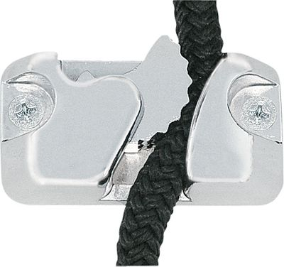 The revolutionary patented design of the Kwik Grip will hold any rope up to 1/2 without hassle. Perfect for use on anchor or mooring lines, deck or dock lines, deck accessories and fenders. To use, simply insert the rope anywhere along the length and give it a quick tug to secure. It can even be done with one hand. The spring-loaded cam lock holds the rope securely with a heavier load being held with a tighter grip. Per 2. - $44.99