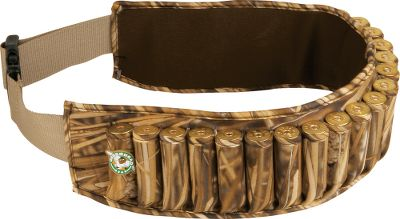 "Hunting The original neoprene shell belt. 25 enclosed shell loops will hold 2-3/4"" to 3-1/2"" 12-ga shells. 2""-wide webbing belt and heavy-duty, quick-release buckle adjusts to 60"" to fit comfortably over heavy jackets and waders. Imported.Camo patterns: MarshGrass . - $14.88"
