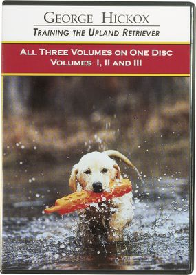 Hunting George Hickox teaches you how to train your retriever for upland hunting in an easy-to-follow, three-volume DVD set, using a logical and easy to follow program that he has employed over the past decade in his own kennel and training seminars. Previous videos by Hickox won numerous awards and these updated versions will prove to be better yet. Volume I goes over gun and bird introduction along with patterning and ranging. Volume II covers basic commands and low level electronic training in depth. Volume III goes into advanced retrieving and delivery, as well as proper flushing behaviors. 100 minutes. DVD. - $29.88