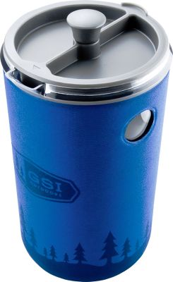 Camp and Hike Enjoy flavorful, mud-free coffee with this portable French press. Double-walled, insulated lids lock in heat. BPA-free carafe is lightweight and shatter-resistant, allowing you to enjoy French press coffee anywhere. Removable EVA sleeve and handle offer simple cleaning. Available: 30-oz. Java Press Weight: 10.3 oz. Dimensions: 4.5 x 4.2 x 7.7. Colors: Blue. 50-oz. Java Press Weight: 14.6 oz. Dimensions: 6.2 x 4.8 x 9.5. Colors: Burgundy, Blue. Size: 50 OZ. Color: Blue. - $39.99