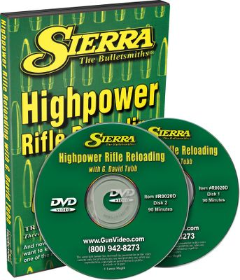 David G. Tubb demonstrates reloading techniques for intermediate to advanced reloaders. Topics include equipment needed and working with the various components needed to turn out better high-power rifle ammunition. 180-minute DVD. - $14.88