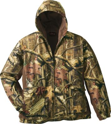 Hunting Constructed of breathable, windproof polyester and lined with ultrawarm, 100% polyester microfleece, each garment delivers exceptional warmth and water-resistant protection for layering or stand-alone wear. Fully taped seams for weather resistance and fleece-lined for warmth. Dual cargo pockets. Adjustable hood. Imported.Sizes: M-2XL. Camo pattern: Mossy Oak Break-Up Infinity - $24.88