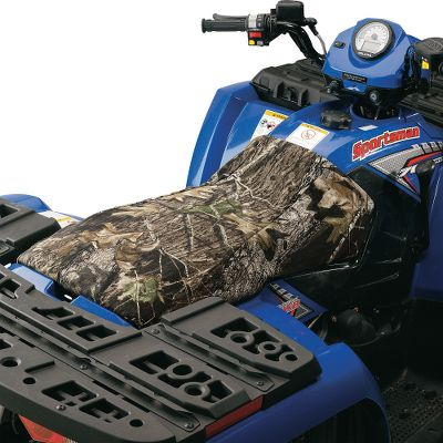 Keep the seat on your ATV or UTV looking like new while protecting it from the elements. These rugged seat covers are made of weather-resistant DWR-treated 600-denier polyester. Theyre designed for a custom fit on most ATVs and UTVs, and have an elasticized drawcord for easy installation and a snug fit. Made in USA.Camo patterns: Realtree MAX-4, Mossy Oak Break-Up Infinity. Year: 14. Type: ATV Seat covers. Model: 420 Rancher. Make: Honda. Color/Camo Pattern: Realtree MAX-4 . Year/Make H151h9. Color Adv Max 4. - $19.99