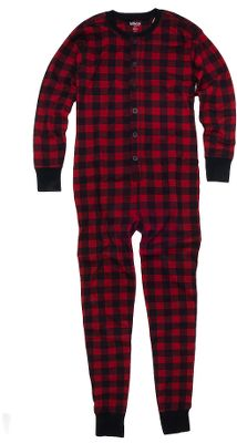 Hunting Hatley brought the trapdoor design from yesteryear back to create functional, cozy long johns. Constructed of soft cotton for warmth and comfort, the union suit features a button-up front and three-button closure in the back. Imported.Sizes: XS-XL.Patterns: Bear Bum, Moose on Plaid. - $40.00