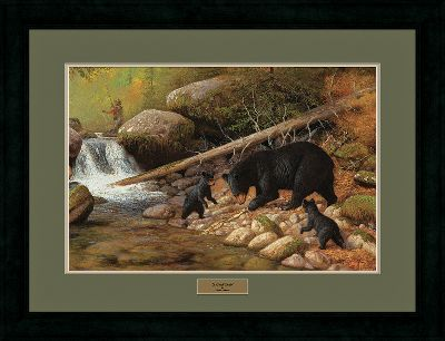 Hunting Wildlife prints of this exceptional quality and price are truly a rare find, and make an excellent gift for any sportsman or art aficionado. Meticulously produced from the original works by renowned artist Hayden Lambson, these prints capture all the grace and charm of North Americas most endeared wild animals. Each comes with gallery glass, archival-quality double matting, a complementing solid-oak frame and a brass nameplate. Each is signed and numbered by Lambson. Limited-edition prints. 27 x 35 framed. Available: A Good Catch. - $99.99