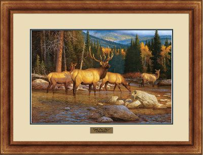 Hunting Created exclusively for Cabelas, these limited-edition prints by premier wildlife master artist Hayden Lambson feature the beauty of some of North Americas most notable wildlife scenes with whitetail deer, majestic elk and a cozy cottage. Ready to hang, each print comes matted in a hand-rubbed, hardwood frame with a brass nameplate. Made in USA. 22H x 30W. Available: Weekend Retreat. - $99.99