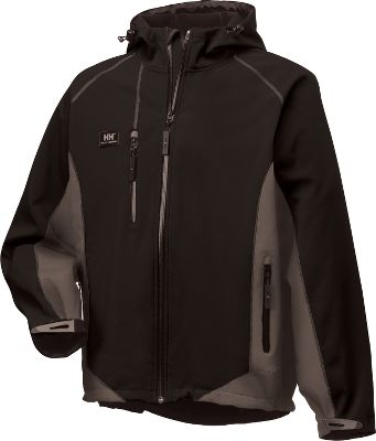 Three-layer soft shell offers waterproof, windproof performance and abrasion-resistant durability for trail-to-town versatility. Its heavyweight 80/20 polyamide/spandex/Lycra soft shell offers stretch comfort and warmth with a soft polyester microfleece lining. Two handwarmer pockets and chest pocket with water-resistant zippers. Water-repellent front zipper blocks wind-driven rain. Adjustable Velcro cuffs. Drawcord-adjustable hood. Drop-tail hem for extended coverage. Imported.Sizes: XS-4XL.Colors: Black/Dark Grey, Dark Red/Black. - $152.00