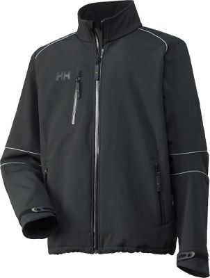 The Barcelona Jacket delivers multiseason performance and a unique motor-sport style. During windswept activities, its three-ply fabric holds body warmth while shielding you from windy and wet weather. Soft to the touch, the water-repellent, abrasion-resistant shell features reflective piping at elbows and shoulders that adds nighttime visibility. An inner wind- and waterproof membrane delivers full protection from the elements. The soft fleece lining, microfleece collar and the extended hook-and-loop-adjustable cuffs lock in warmth in colder conditions. Articulated sleeves enhance movement. Water-repellent zippers on front closure, two hand pockets at sides and one phone pocket on chest keep your necessities handy. Two inner pockets. Drawcord-adjustable bottom hem. Made of a 300-gram blend of 95/5 polyester/elastane. Imported. Sizes: XS-4XL. Colors: Black, Black/Dark Grey. - $120.00