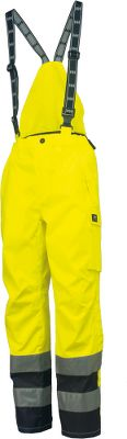Entertainment The extreme weather protection, articulated fit and 24-hour visibility of these pants highlight a few of the reasons workers trust Helley Hansen apparel for performance and safety on the job. They meet ANSI standards for high-visibility safety and protection from blood-borne pathogens. Worker-friendly features include click.on loops for additional accessories and a broad back-belt tunnel for extra support and stability. Abrasion-resistant heavyweight polyester shell with nylon lining. Boot zip under flap with Velcro adjustment at bottom hem. Detachable suspenders. Bellowed thigh pocket with flap. Back pocket with flap. Ruler pocket. Two handwarmer pockets. Inside kneepad pocket. Imported.Sizes: XS-4XL.Colors: Yellow/Charcoal, Orange/Navy. - $136.00