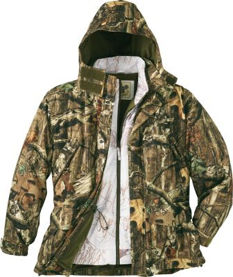 Hunting With a waterproof/breathable 100% polyester tricot shell, this parka will be your new foul-weather favorite. Its versatile style makes it the perfect jacket for changing weather conditions. For added warmth, the Thinsulate Insulation in the zip-out liner gives you an extra layer of protection against the elements. Imported. Sizes: M-3XL. Camo pattern: Seclusion 3D . - $69.99