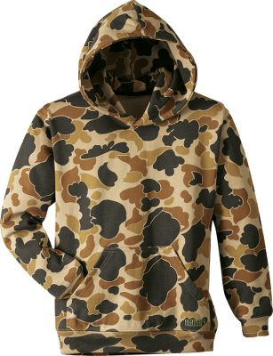 Hunting The perfect hoodie to add to your waterfowling layer sys tem or for kicking into relaxation mode after a hunt. It s made of fade-resistant 60/40 cotton/polyester knitted fleece with fiber-reactive printing. Embroidered Herter s logo on kangaroo pocket. Rib-knit waist and cuffs. Machine washable. Imported. Sizes: M-3XL. Color: Brown Camo. - $22.88