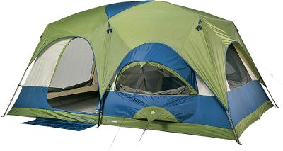 Camp and Hike Ideal for families or groups of campers, this tent boasts 150 sq. ft. of floor space and comfortably sleeps up to eight campers. The tent and fly are constructed of light, yet tough 185T polyester with an 800mm-rated waterproof coating. The flys taped seams are part of the GoBedry waterproofing system that also includes a waterproof floor with elevated sides. Large, spacious windows work with the Cyclone venting system to ensure adequate ventilation. The sewn divider allows you to divide the tent into two rooms of equal size for privacy. The 86 center height offers ample headroom. A sturdy fiberglass and steel pole system delivers the support needed to stand up to wind and precipitation. Convenience features include a pair of hanging mesh pockets, gear loft, a hanging shelf and a pair of hanging beverage holders. Reflective door taping and tie-down cords. Steel stakes and a 600-denier polyester carry bag are included. Imported.Sleeping capacity: 8.Center height: 86.Floor size: 15 x 10.Weight: 47.6 lbs. - $199.88