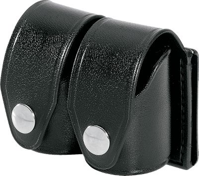 These handy cases keep two revolver speedloaders at your fingertips for quick and easy reloading in the field and at the range. Crafted of weather-resistant vinyl with the look and feel of leather. Nickel snaps. Fits belts up to 2-1/4 wide. Made in USA. Color: Black. Available: The Medium case fits HKS speedloaders for the following calibers: .38, .38 spec., .357, .22 LR, .22 MRF, .44 spec. and .32 HR mag. The Large case fits HKS speeloaders for the following calibers: .38, .357, .44 mag., .44 spec., .45, .45 LC and .41 mag. Color: Black. Type: Speed Loader Case. - $26.99