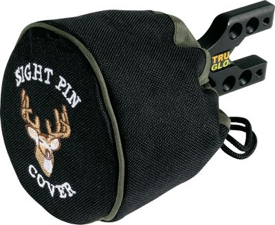 Hunting Protects your sight pins from being damaged when traveling to and from a hunting spot. Cover is made of a heavy-duty, puncture-resistant polyester material. The cord with cord lock can be cinched tight for full coverage. One size fits all. Type: Covers. - $5.88