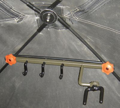 Hunting The most-reliable bow holder designed specifically for hub-style ground blinds. Mount the bow holder in seconds with no tools required. The fork rotates 360to hold any bow and is securely locked into position with two allen screws. It also has three large accessory hooks to hold gear. - $19.99