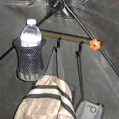 Hunting With its unique mounting system, you can easily install the accessory hook in seconds without tools. It has a drink holder ring and two accessory hooks for hanging calls, a rattle bag or other gear. Type: Accessory Hooks. - $6.88